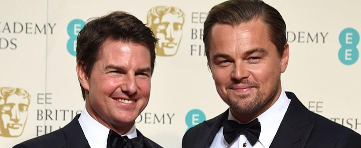 Tom Cruise Congratulates Leonardo Dicaprio At BAFTAs 2016!